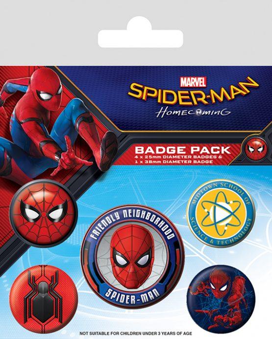 marvel spiderman homecoming kitűző