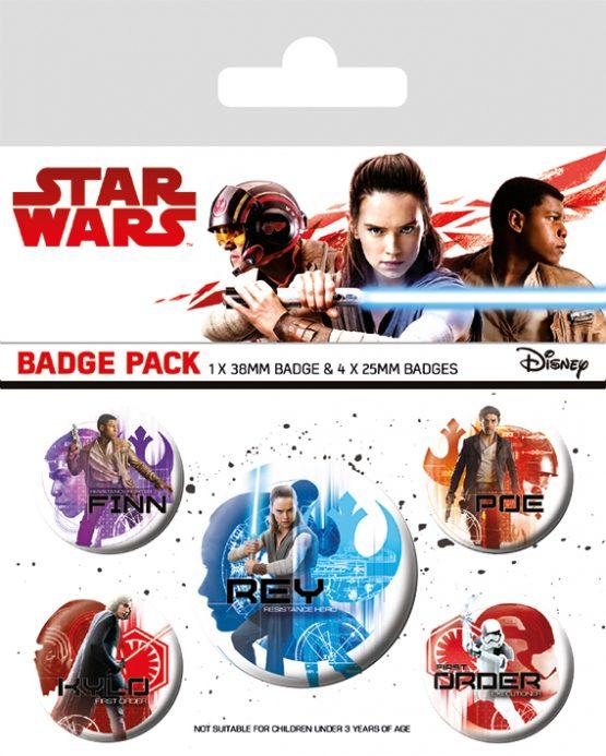 star wars the last jedi icons kitűzőszett