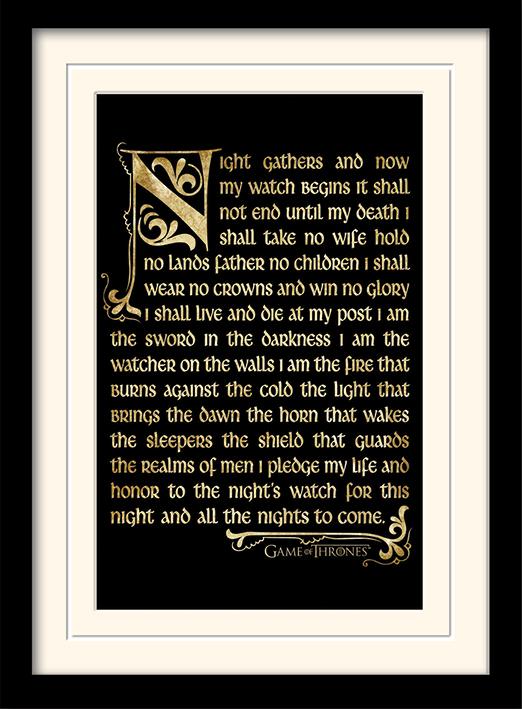 Trónok Harca Éjjeli Őrség poszter