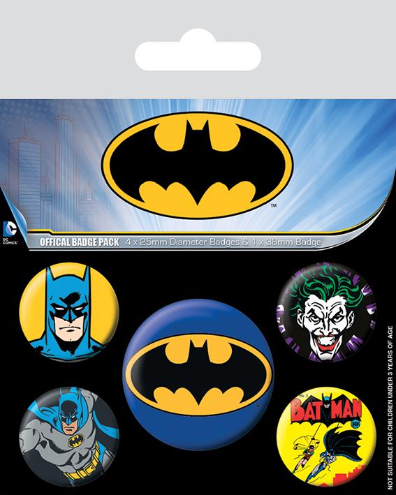 DC Comics  Batman - Kitűző Szett - 5 darabos - GeekHub - Geek ... af24396ec5