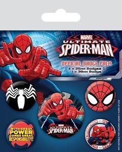 marvel ultimate spider man kitűzőszett