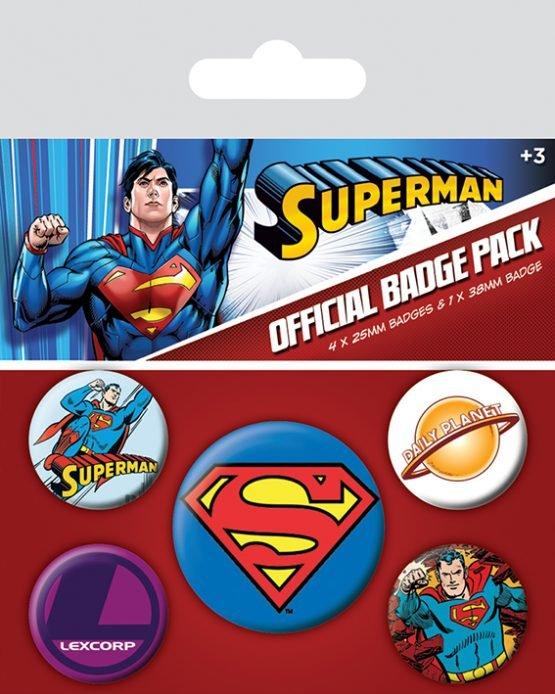 dc comics superman kitűzőszett