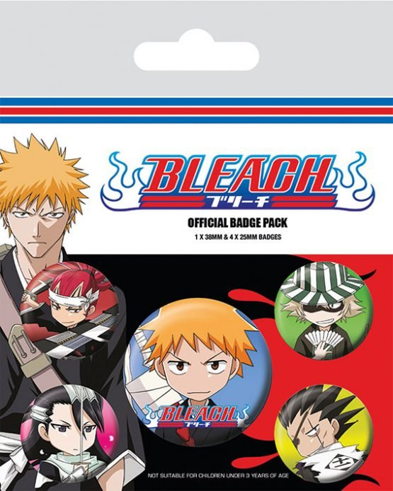 bleach chibi characters kitűzőszett