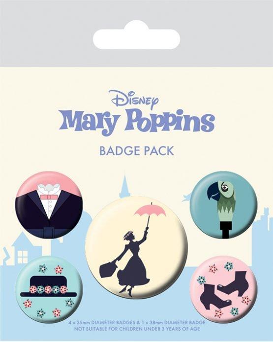 mary poppins kitűzőszett