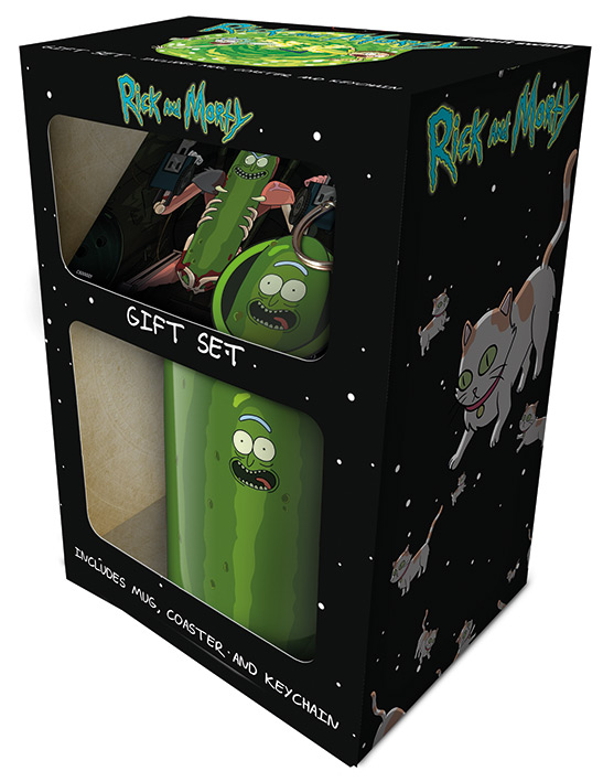 Rick and Morty bögre ajándékcsomag Pickle Rick Rick és Morty
