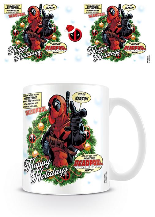 Deadpool bögre ajándék Marvel karácsony