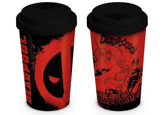 Deadpool utazó bögre ajándék Marvel unikornis