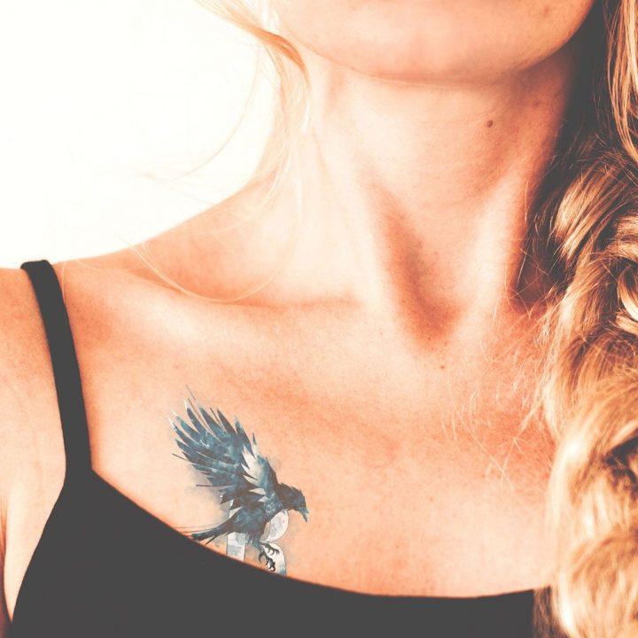 Hollóhát tetoválás
