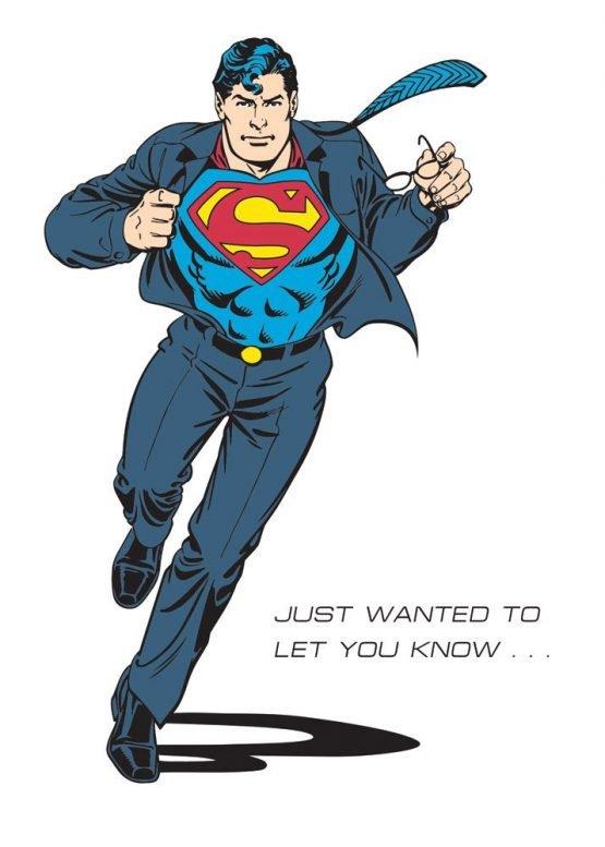 Superman képeslap