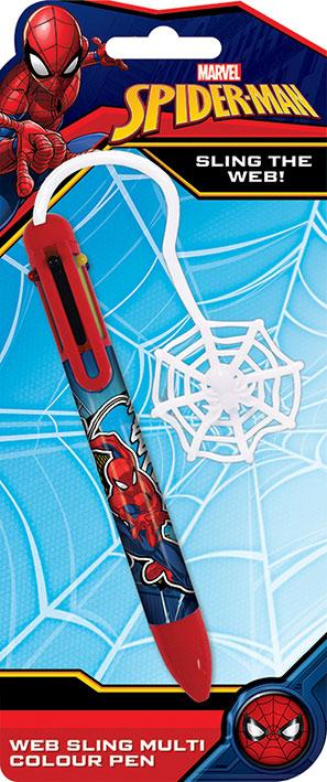 marvel spider man web többszínű toll