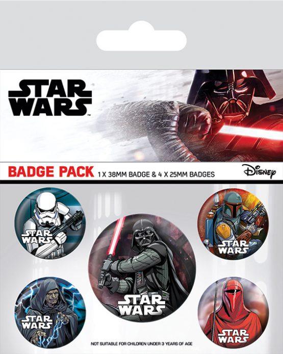 star wars dark side kitűzőszett