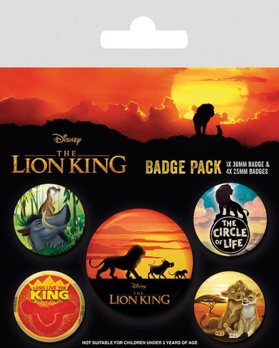 the lion king kitűzőszett