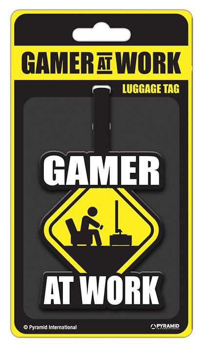 Gamer At Work Poggyászcímke