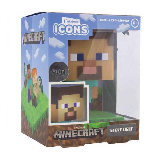 Minecraft Steve 3D Lámpa