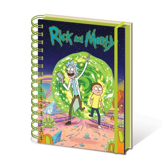 Rick és Morty jegyzetfüzet
