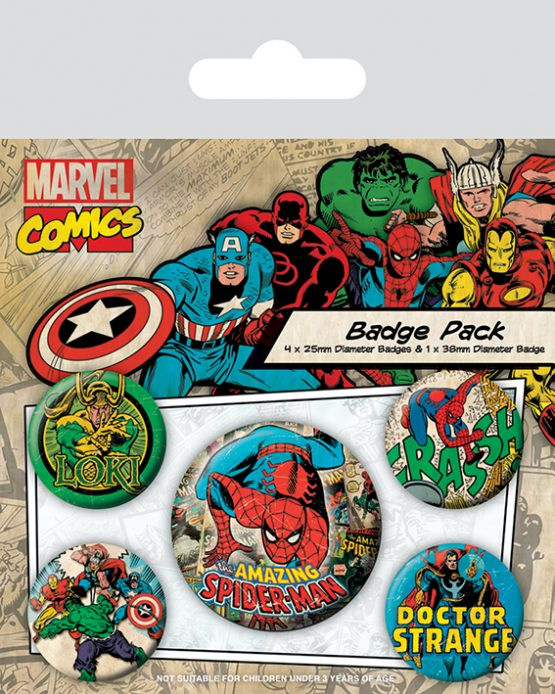 Marvel classic comics kitűzők