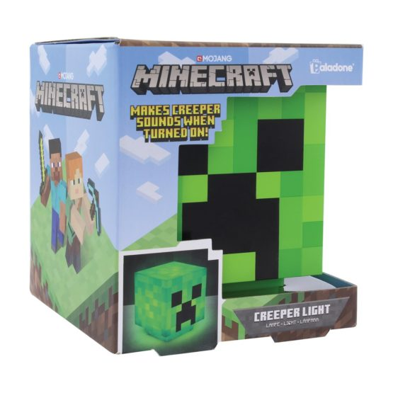 Minecraft Creeper 3D Lámpa