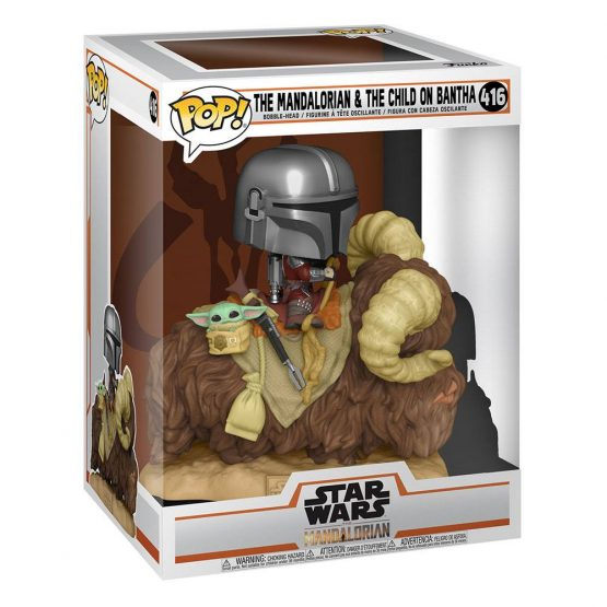 Funko POP! The Mandalorian on Bantha with The Child in Bag