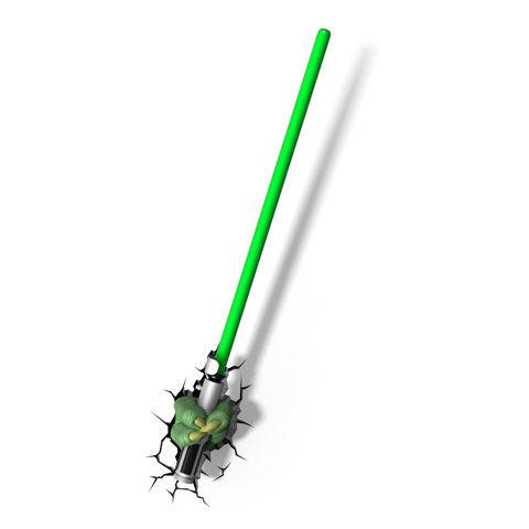 SStar Wars: Yoda Fénykard 3D Lámpa & Hangulatvilágítás