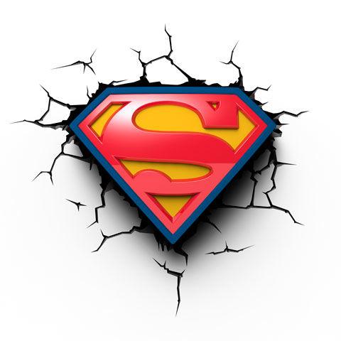 DC Comics Superman Shield 3D Lámpa & Hangulatvilágítás