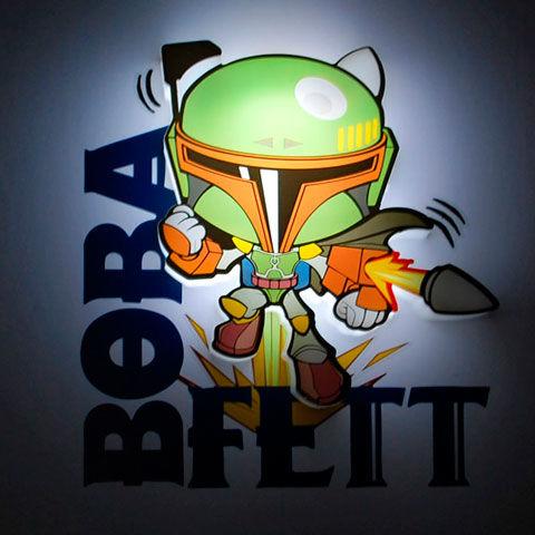 Star Wars Mini Boba Fett 3D Lámpa & Hangulatvilágítás