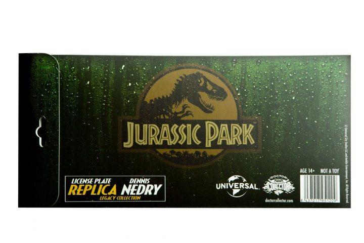 Jurassic Park Dennis Nedry Rendszámtábla Replika
