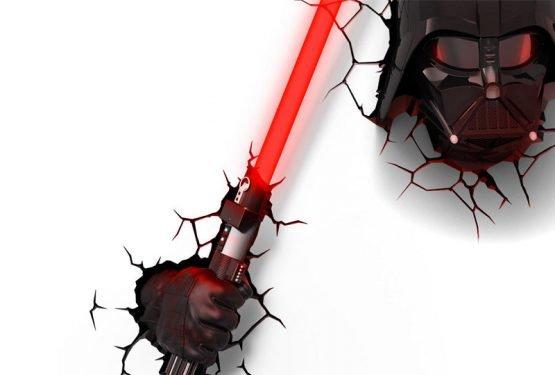 Star Wars: Darth Vader Helmet 3D Lámpa & Hangulatvilágítás