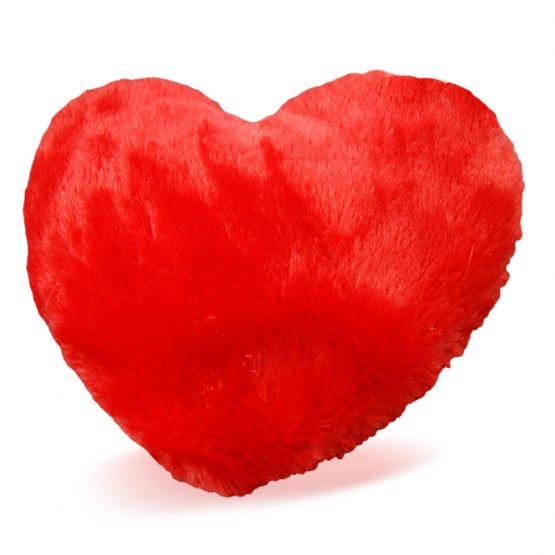 szív alakú plüss párna