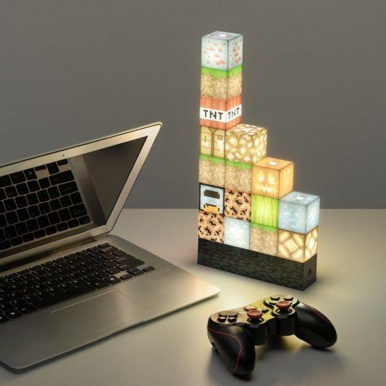 minecraft építőkocka lámpa