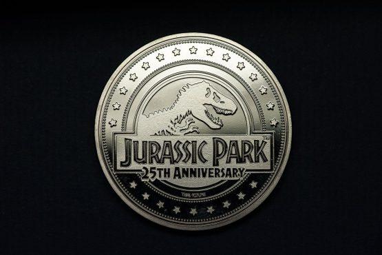 Jurassic Park Gyűjthető Érme 25th Anniversary T-Rex Silver Edition
