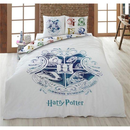 Harry Potter Ágynemű: Roxfort Hogwarts White (Pamut)